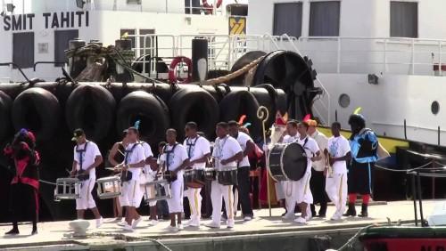 Sinterklaas en zijn pieten zijn onderweg naar Bonaire