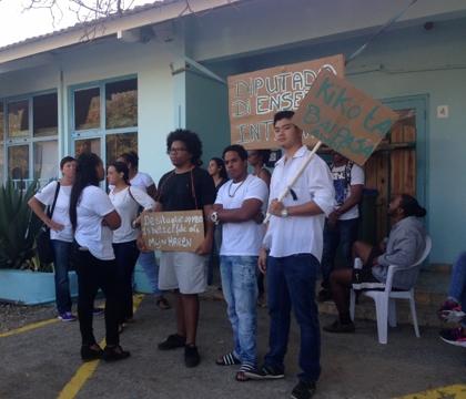 Boze MBO studenten protesteren