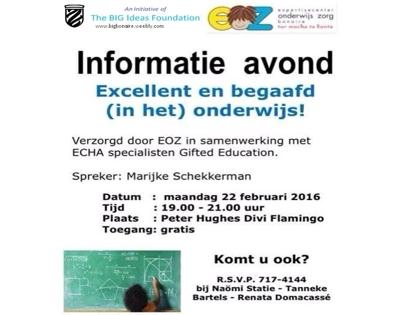 Informatieavond speciaal onderwijs