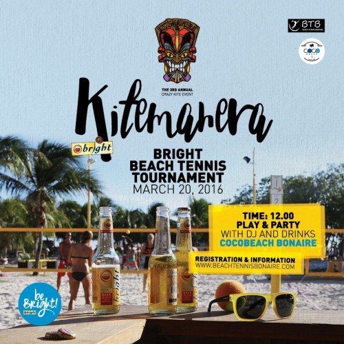 Amstel Bright Beach Tennis Tournament FLyer