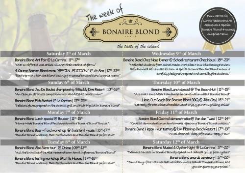 Bonaire blond weekschema
