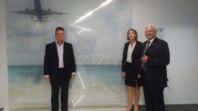 Bonairiaanse Delegatie ontvangen door Delta Air Lines, United Airlines en American Airlines
