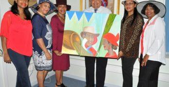 Schilderij van Hat ladies voor gezaghebber Rijna