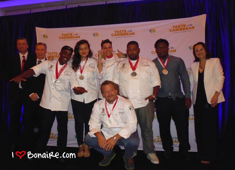 Bonaire Culinaire Team komt zondagavond terug van Taste of the Caribbean met maar liefst 8 medailles