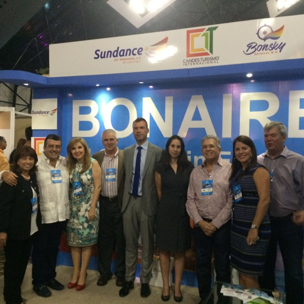 Dutch Embassy Reps at Bonaire booth