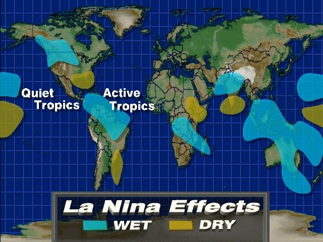 El Niño wordt in augustus ingeruild door La Niña