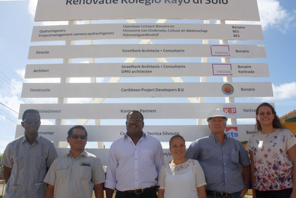 Bouwbord Kolegio Rayo di Solo
