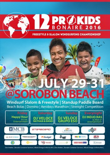 Prokids Freestyle and Slalom Windsurfing Championship @ Sorobon Beach | Kralendijk | Bonaire | Caribisch Nederland
