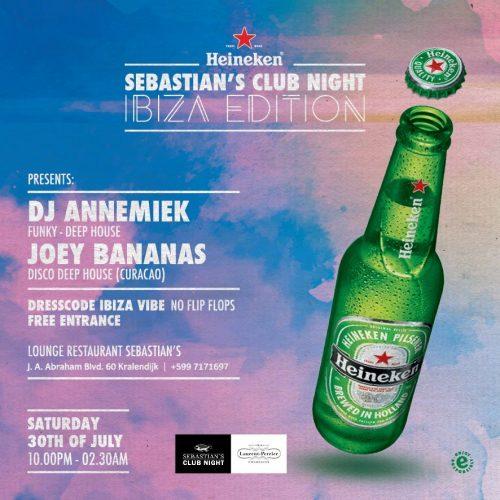 Sebastian's Club Night Ibiza Style @ Sebastian's Restaurant   Kralendijk   Bonaire   Caribisch Nederland