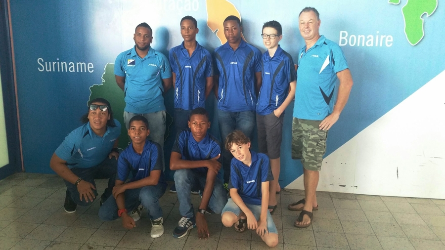 Lars van Veenendaal tafeltenniskampioen U11 Dutch Caribean Championship 2016