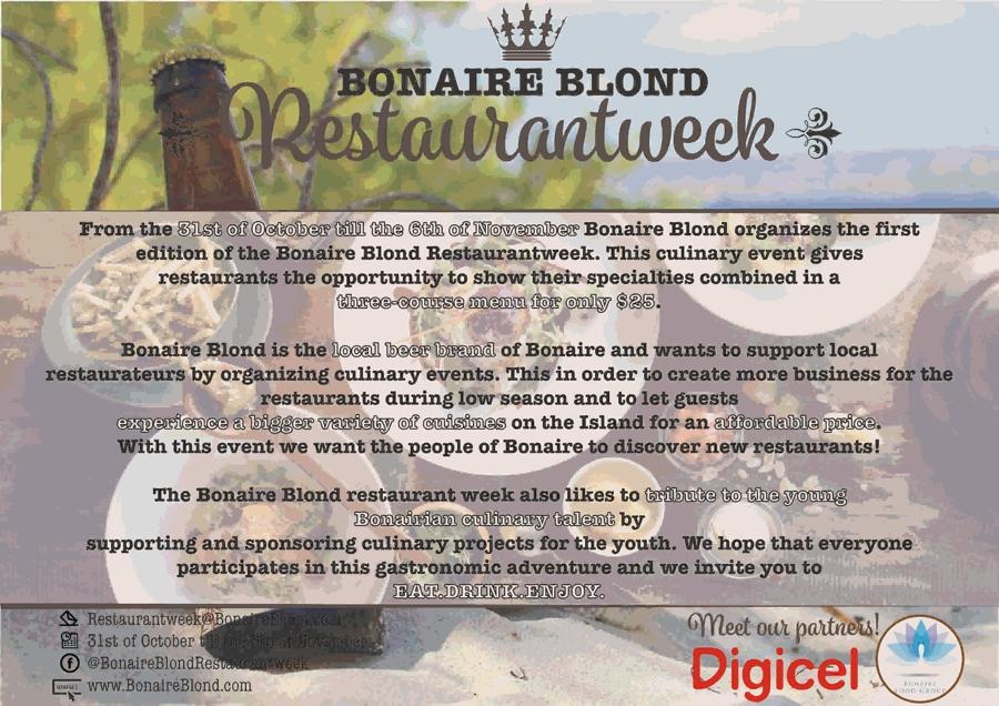 Bonaire Blond Restaurantweek