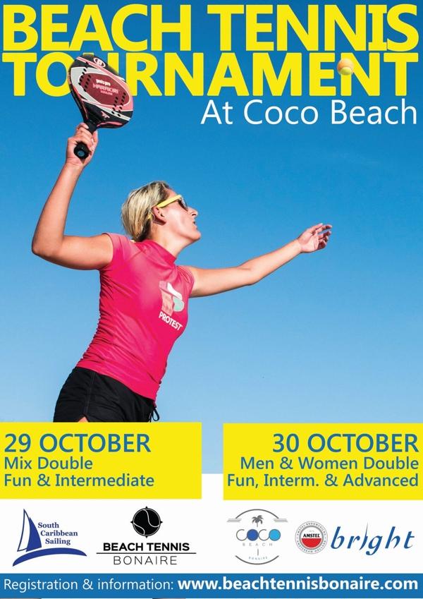 Op 29 & 30 oktober organiseert Beach Tennis Bonaire een 2 daags toernooi.