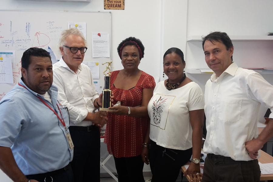 Trofee voor SGB personeel