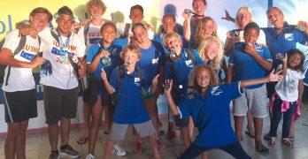 "Bonairiaanse Aquatics Club ""Barracudas"" bij het Internationale EU zwem toernooi op Curacao"