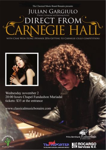 Klassiek Concert Mae Fon Hong & Julian Gargiulo @ kapel van Fundashon Mariadal | Kralendijk | Bonaire | Caribisch Nederland