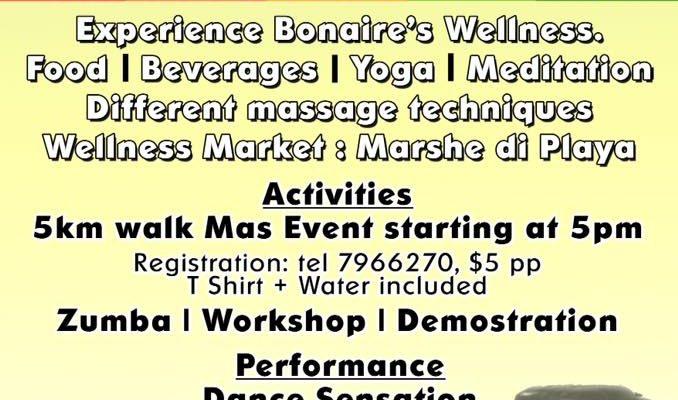 Taste of Bonaire Wellness' in het Wilhelmina Park