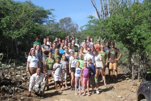 het-echo-team-met-junior-rangers-en-andere-vrijwilligers