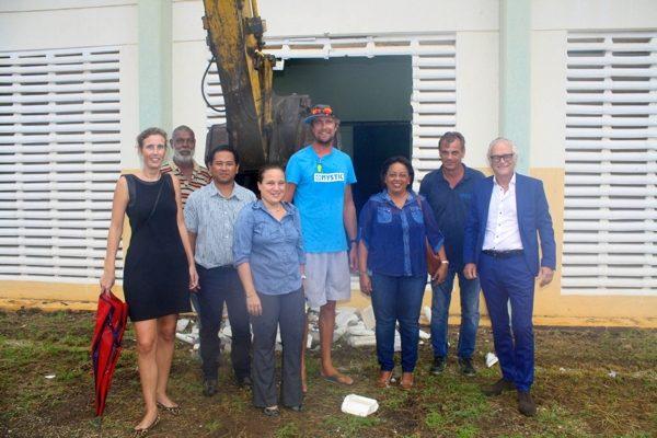 Herbouw gymzalen voor Scholengemeenschap Bonaire