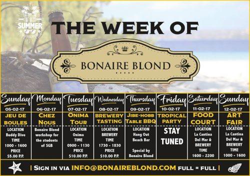 2e Editie Bonaire Blond week