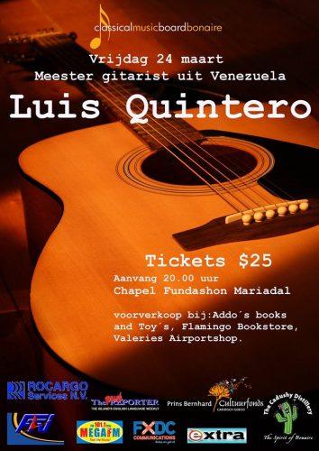 Meester gitarist Luis Quintero in Kapel Fundashon Mariadal @ Kapel Fundashon Mariadal