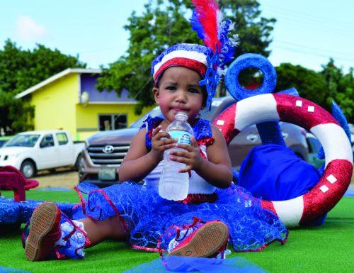 De wellicht jongste deelnemer uit het Kindercarnaval 2017