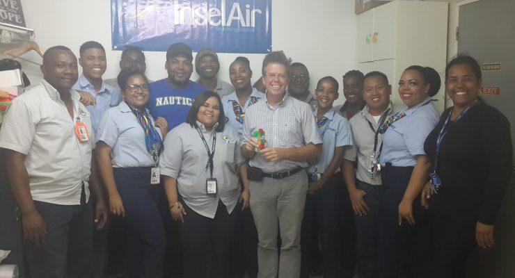 TCB geeft blijk van waardering aan personeel InselAir