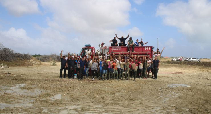 Teambuilding SGB/MBO studenten en Brandweerkorps