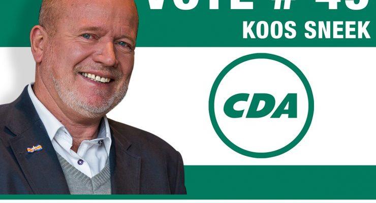 Koos Sneek (CDA) wil graag steun kiezers BES-eilanden