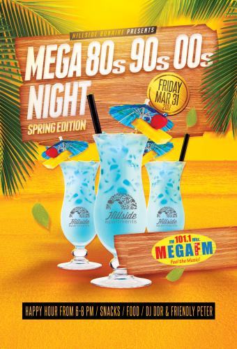 Mega 80 90 00 Night @ Hillside Apartments | Kralendijk | Bonaire | Caribisch Nederland