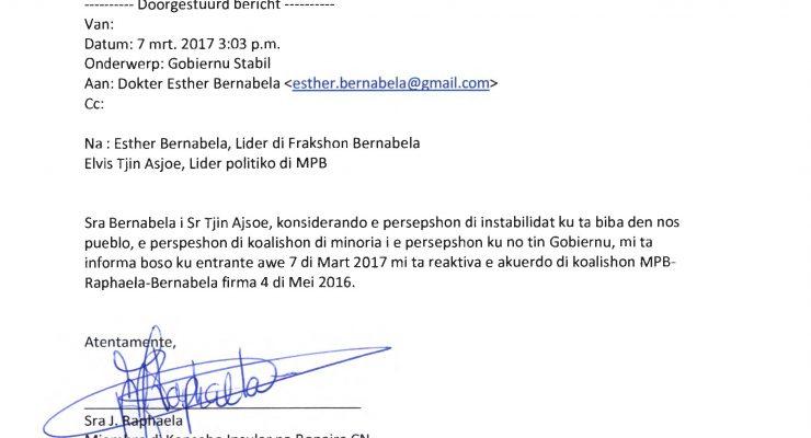 Na ommezwaai Raphaela: Bonaire beschikt weer over meerderheidscoalitie
