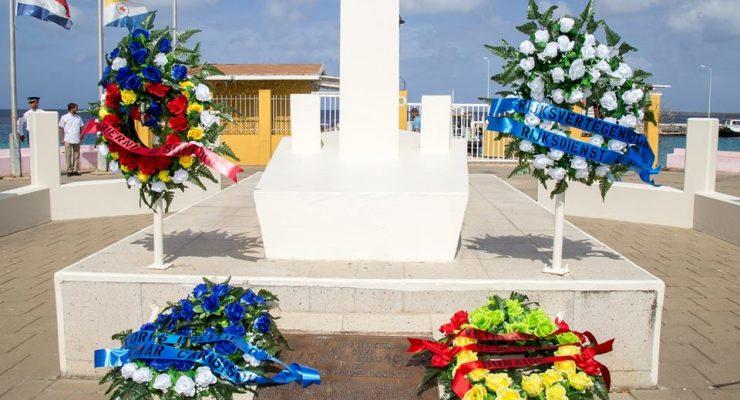Herdenkingsceremonie voor de gevallen in de Tweede Wereldoorlog