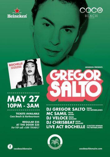 DJ Gregor Salto en Rochelle @ Coco Beach | Kralendijk | Bonaire | Caribisch Nederland