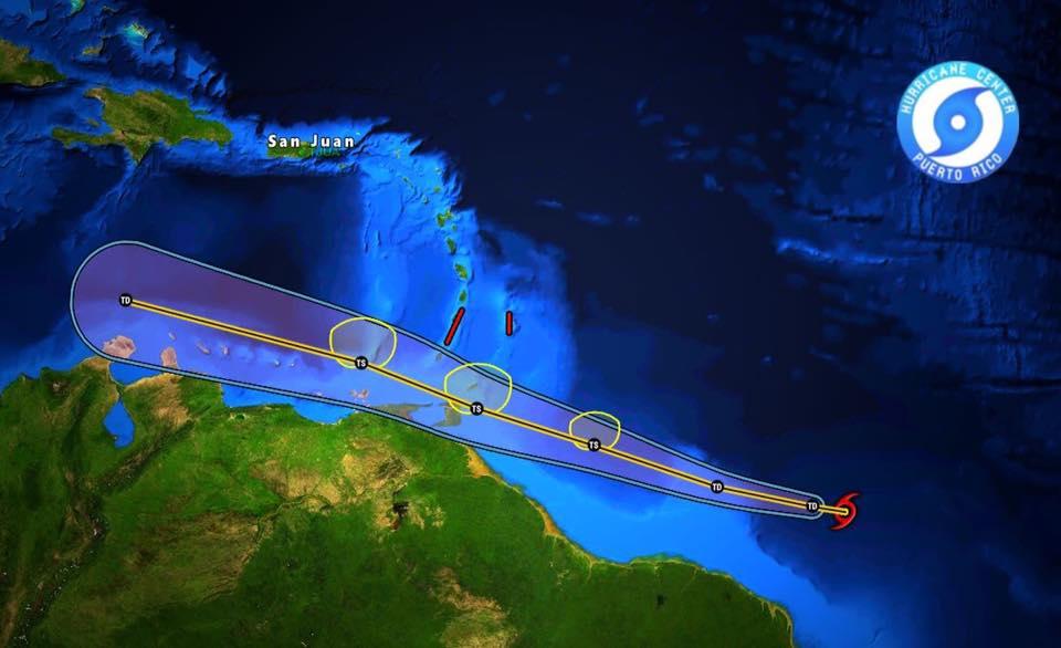 Mogelijk een tropische storm op komst