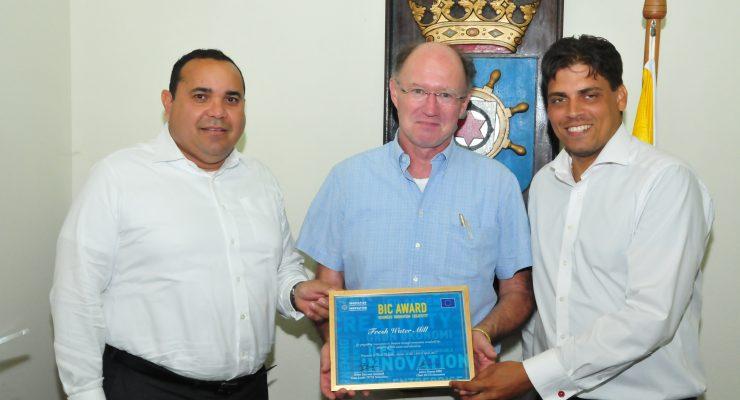 Bonaire wint BIC Award voor innovatieve oplossing watervoorziening buitengebied