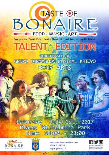 TCB organiseert 4e Taste of Bonaire @ Wilhelminapark