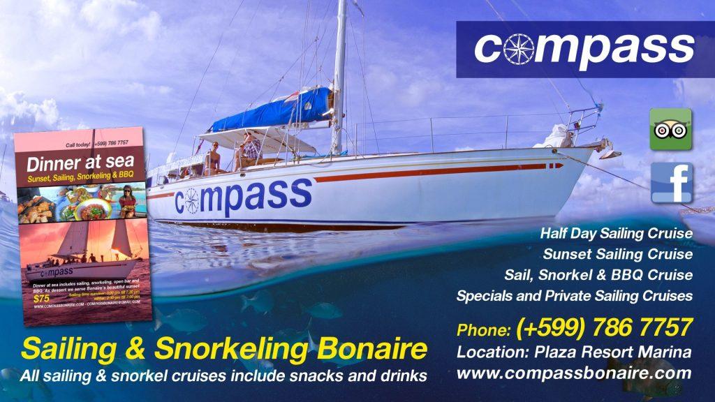 Compass sailing Bonaire