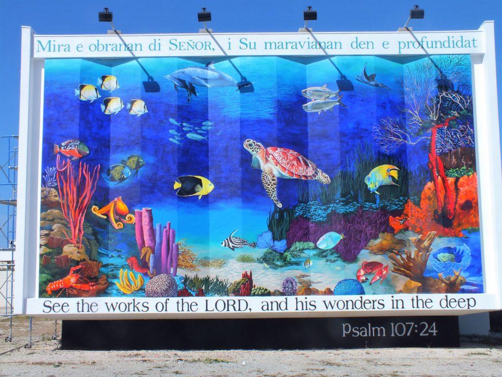 Nieuwe muurschildering bij trans world radio is af bonaire nu - Nieuw muurschildering ...