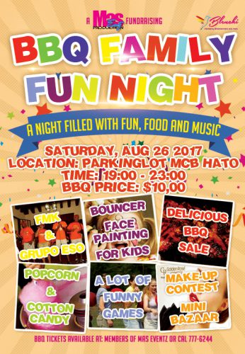 BBQ Family Fun Night @ Parkinglot MCB Hato