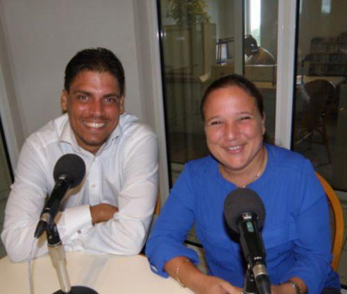 Clark en Nina tijdens interview BONFM 8 aug 2017