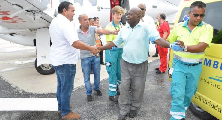 Eerste patiënten van de Bovenwinden komen aan op Bonaire