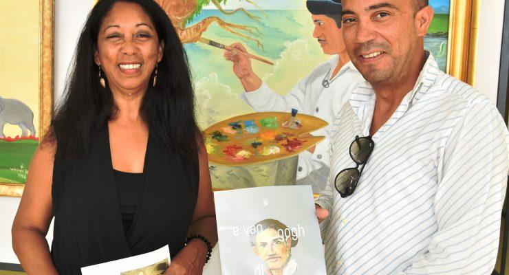 Gedeputeerde Cecilia bezoekt expositie Winfred Dania