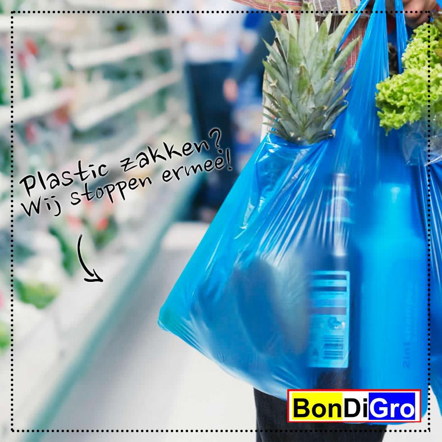 Bondigro stopt met plastic zakjes