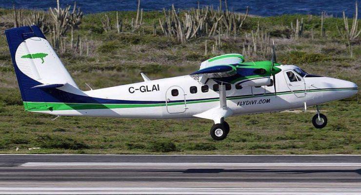 Eerste van de twee Divi Divi Air Twin Otters op Hato Airport