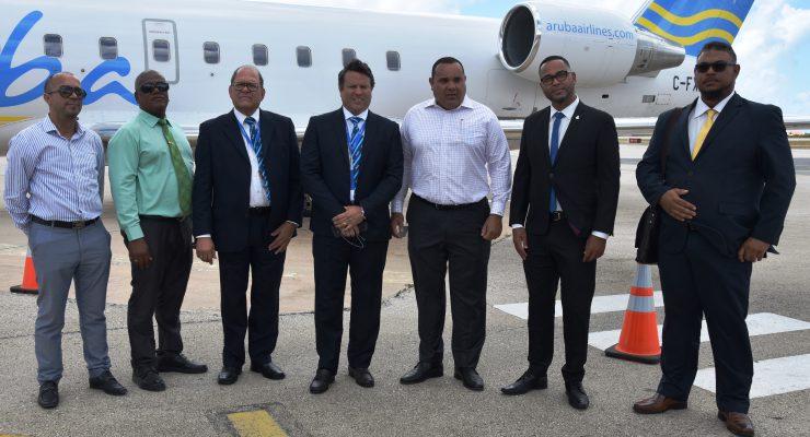 Inaugurele vlucht van Aruba Airlines