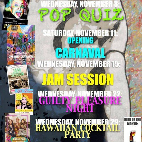 Agenda November @ Little Havana | Kralendijk | Bonaire | Caribisch Nederland