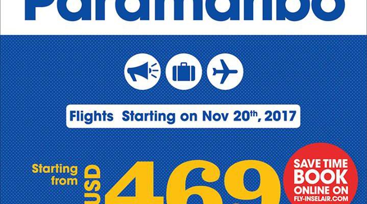 InselAir voegt vlucht naar Suriname toe