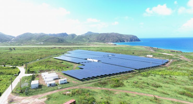 Nieuw zonnepark voorziet heel Sint Eustatius van elektriciteit