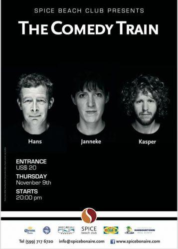 The Comedy Train @ Spice Beach Club | Kralendijk | Bonaire | Caribisch Nederland