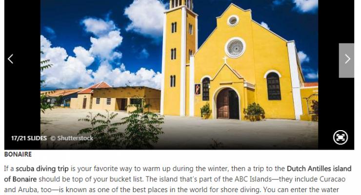 Bonaire in TOP 20 beste bestemmingen om aan de winter te ontsnappen