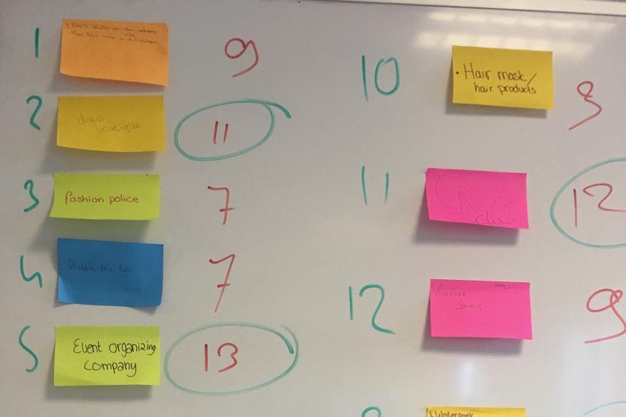 Leerlingen Liseo leren basisstappen van ondernemerschap